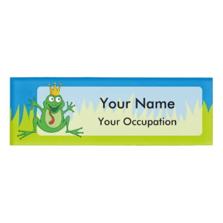 Prince frog name tag