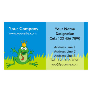 Prince Frog Pack Of Standard Business Cards