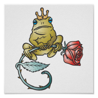 prince frog with rose print