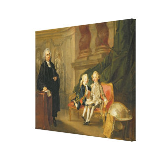 Prince George (1738-1820) and Prince Edward August Canvas Print