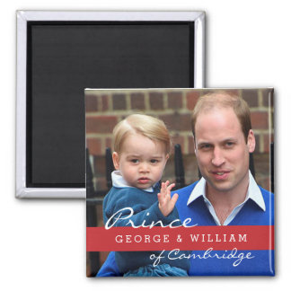 Prince George and Prince William 2 Inch Square Magnet