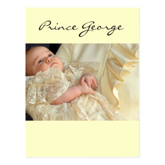 Prince George Christening Postcard