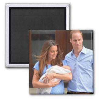 Prince George Royal Baby Square Magnet