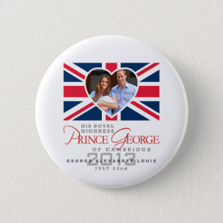 Prince George - William & Kate 6 Cm Round Badge
