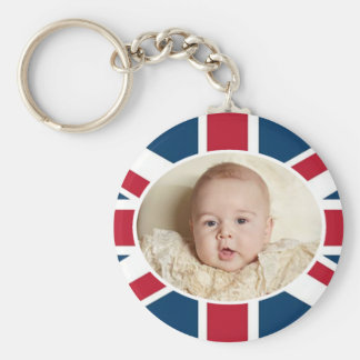 Prince George - William & Kate Basic Round Button Key Ring