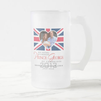 Prince George - William & Kate Frosted Glass Mug