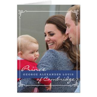 Prince George - William & Kate Greeting Card