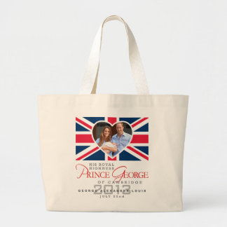 Prince George - William & Kate Large Tote Bag