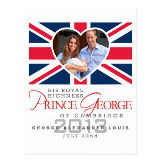 Prince George - William & Kate Post Cards