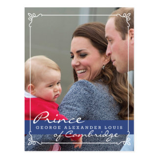 Prince George - William & Kate Post Card