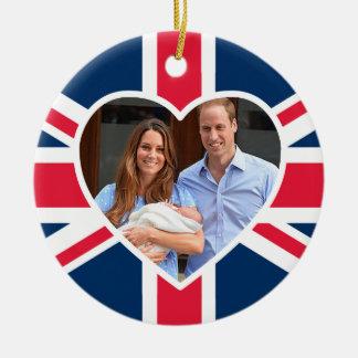 Prince George - William & Kate Round Ceramic Decoration