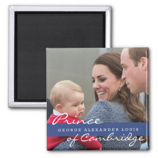 Prince George - William & Kate Square Magnet