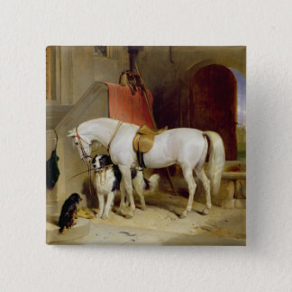 Prince George's Favourites (oil on canvas) 15 Cm Square Badge