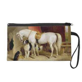 Prince George's Favourites (oil on canvas) Wristlet Clutches