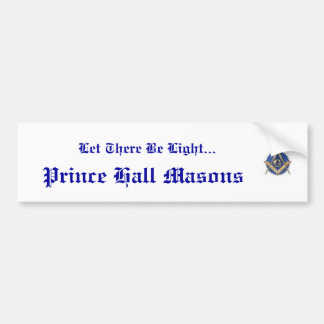 Prince Hall Bumper Sticker