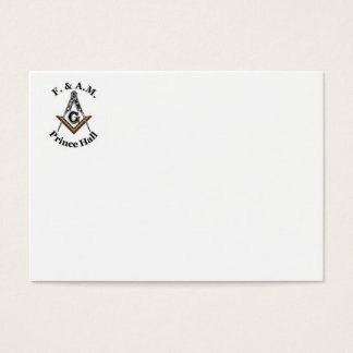 Prince Hall Business Card