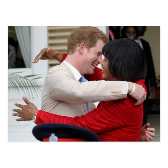 Prince Harry & PM Portia Simpson Miller Postcard