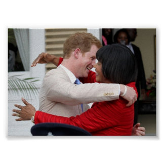 Prince Harry & PM Portia Simpson Miller Poster