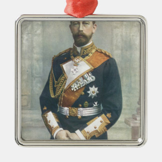 Prince Henry Of Prussia Silver-Colored Square Decoration