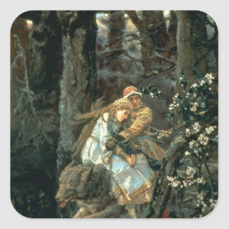 Prince Ivan on the Grey Wolf, 1889 Square Sticker