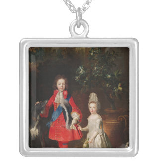 Prince James Francis Edward Stuart Silver Plated Necklace