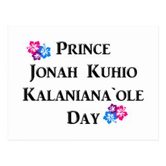 Prince Jonah Kuhio Kalaniana`ole Day (Hawaii) Postcard
