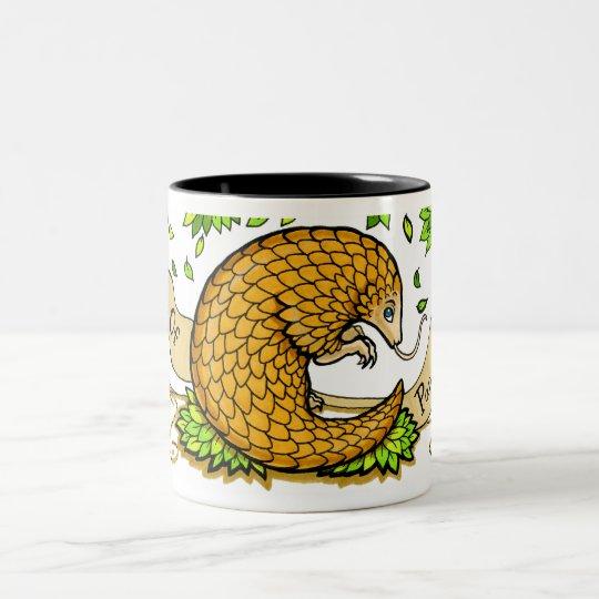 Prince Of Pangolins Two-Tone Coffee Mug