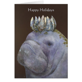 Prince of the Purple Manatees happy holiday card