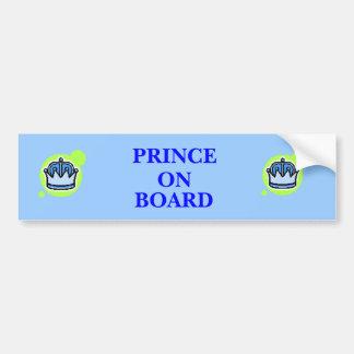 Prince On Board Bumper Sticker