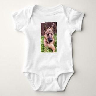 Prince or Princess Belgian Malinois Puppy Baby Bodysuit