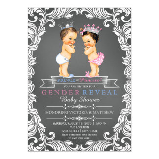 Prince or Princess Chalkboard Gender Reveal 13 Cm X 18 Cm Invitation Card
