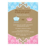 Prince or Princess Damask Gender Reveal Party Personalized Invitations