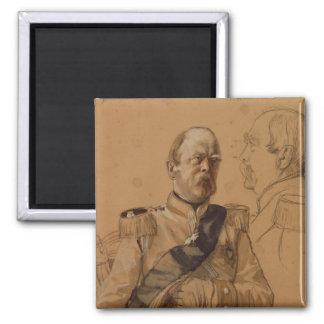 Prince Otto von Bismarck Square Magnet
