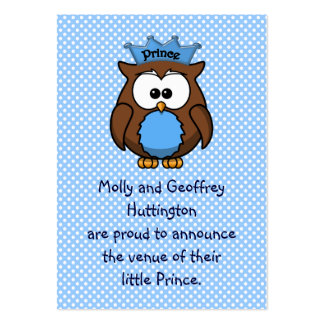 Prince owl pack of chubby business cards