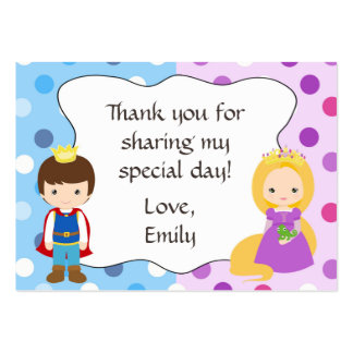 Prince Princess Gift Favor Tag Thank You Label Pack Of Chubby Business Cards