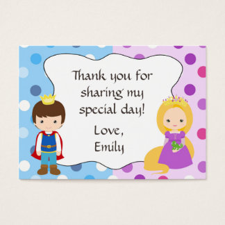 Prince Princess Gift Favor Tag Thank You Label Business Card