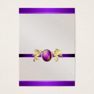 Prince & Princess Purple Jewel Table Placecard 2