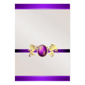 Prince & Princess Purple Jewel Table Placecard 2 Business Card