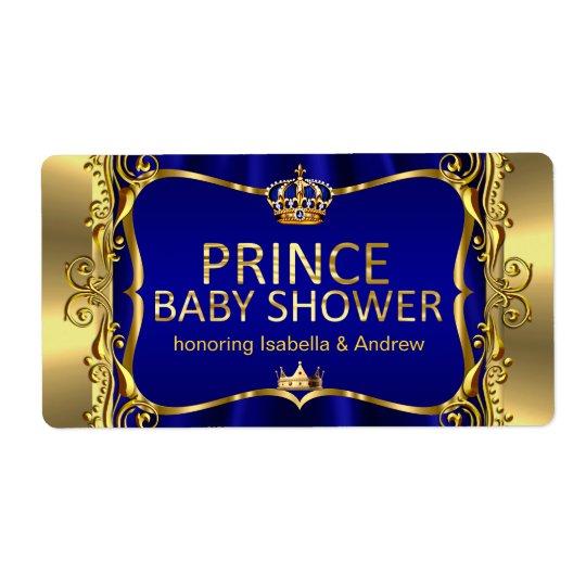 Prince Royal Blue Baby Shower Gold Boy Shipping