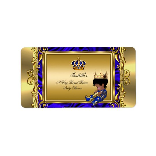 Prince Royal Blue Baby Shower Regal Gold Boy