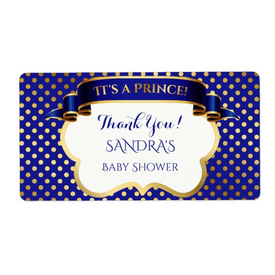 Prince Royal Blue Gold Thank You Gift Address