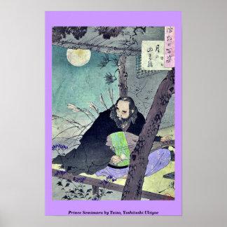 Prince Semimaru by Taiso, Yoshitoshi Ukiyoe Print