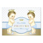 Prince Twin Boy Baby Shower Personalized Announcements