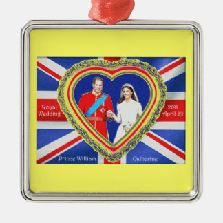 Prince William and Catherine Royal Wedding Christmas Ornament