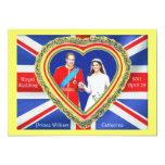 Prince William and Catherine Royal Wedding Custom Invites