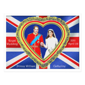 Prince William and Catherine Royal Wedding Postcard