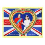 Prince William and Catherine Royal Wedding Postcards