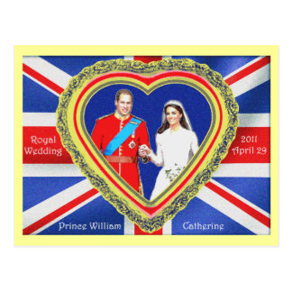 Prince William and Catherine Royal Wedding Postcard