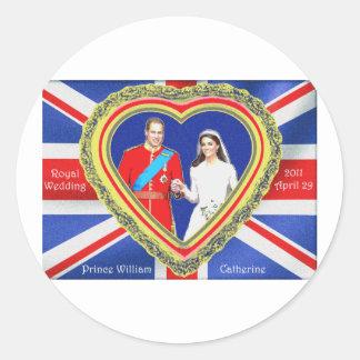 Prince William and Catherine Royal Wedding Round Sticker