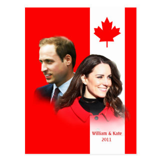 Prince William - Kate Middleton Canada Postcard